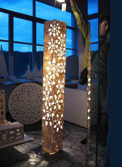 scultura di luce ritoccata